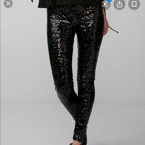 Express Black Sequin Pants